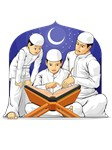 Kids Learn to Read Al-Quran with Their Father