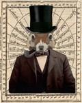 Gentleman Sir Squirrel Victorian Steampunk Altered