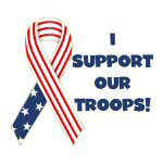 Patriotic Ribbon Support Troops