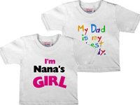 Text Tshirts for Baby!