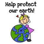 Girl Protect Our Earth T-shirts and Gifts