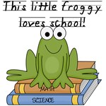 Froggy Loves School Tshirts and Gifts