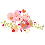 Hugs n' Kisses Valentine Tshirts and Gifts