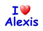 I Love Alexis (Blue)