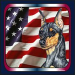 Miniature Pinscher Patriotic USA Flag Gifts Items