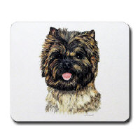 Cairn Terriers Dog Clocks and Mousepads