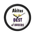 Akita Dog Clocks and Mousepads