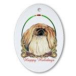 Pekingese Dog Holiday Ornaments