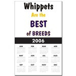 Awesome White Whippet Dog Calendars