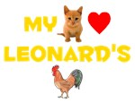 My Pussy (Cat) Loves Leonard's Cock (Rooster)