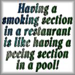 Having a smoking section in a restaurant...