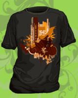 Hunter S. Thompson Art T-shirts- Around Barstow