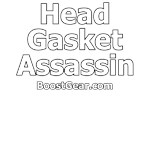 Head Gasket Assassin White on Black