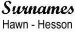 Vintage Surname - Hawn - Hesson