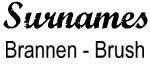 Vintage Surname - Brannen - Brush