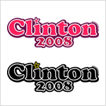 Clinton 2008 t-shirts & stickers