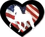 Am Flag Heart Peruvian