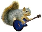 Squirrel with Blue Guitar
