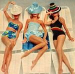 Retro Sunbathers