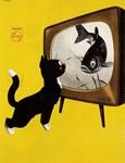 Cat, Fish, Vintage Poster