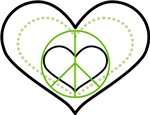 Peace Triple Heart