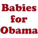 Babies for Obama (Red font/Pedro style)