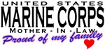 Proud US Marines Mother-In-Law T-shirts & Gifts