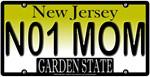 #1 Mom New Jersey Vanity License Plate Design
