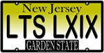 Let's 69 New Jersey Vanity License Plate Design