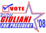 Rudy Giuliani For President '08 T-shirts & Gifts