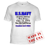 U.S. NAVY Freedom isn't Free Clothing, Ts & Gear