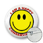 Happy Conservative Buttons and Magnets!