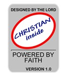 Powered By Faith Christian T-shirts, Apparel & Gif