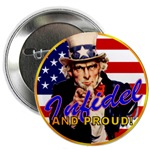 Angry American Uncle Sam Buttons