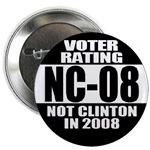 Not Hillary Clinton in 2008 Buttons & magnets