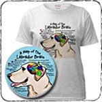 Brain Atlas Yellow Labrador T-Shirts