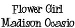 Flower Girl Madison Ocasio