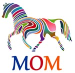 Mom Rainbow Horse