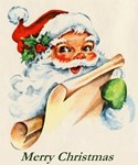 Vintage Santa Merry Christmas