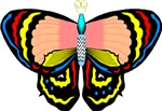 Peace Love New Moon Butterfly