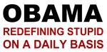 Obama redefining stupid