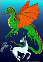 Unicorn and Dragon Fighting