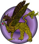Gryphon with Golf Disc