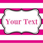 Hot Pink Striped Personalized