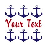 Personalizable Red & Navy Anchors