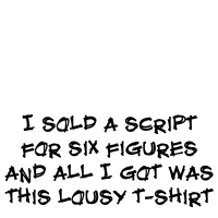 I sold a script for six figures and all I got...
