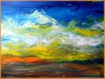 Landscape, colorful art