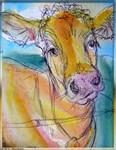 Cow, farm art