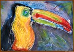 Toucan, bird art