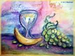 Fruit/Wine, colorful art,